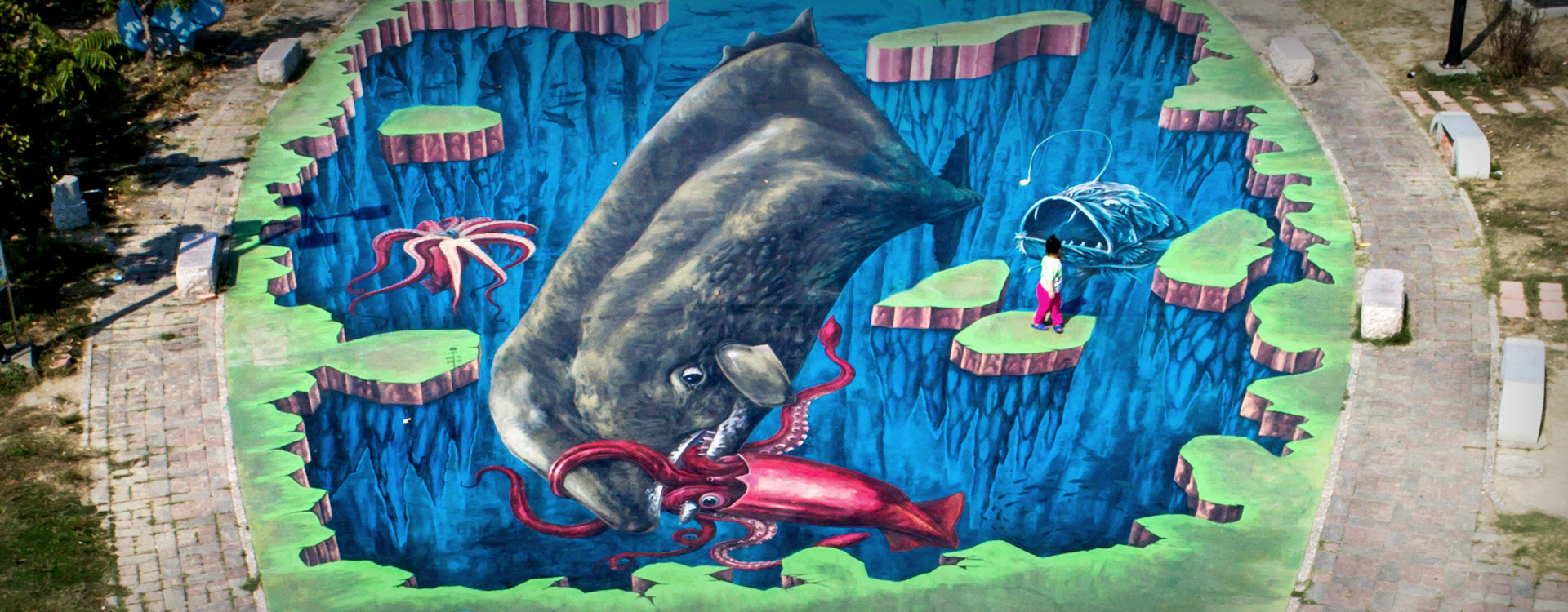 Outdoors Gallery of the Southwest : sea world in Haomeili Village - 3D Painting